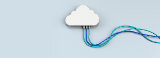 A cloud connected by wires